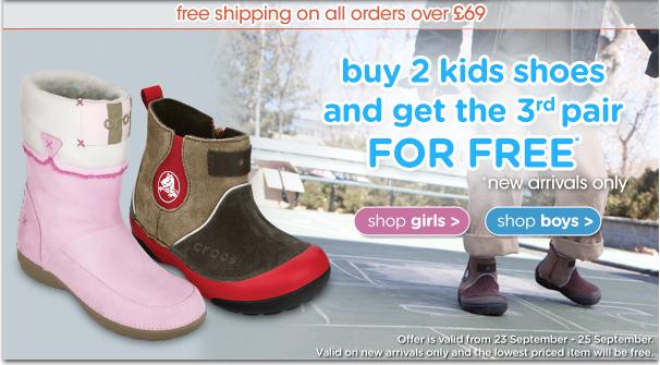 Kids' Shoe Deals: Buy One Pair Get One Pair 50% Off At Naartije