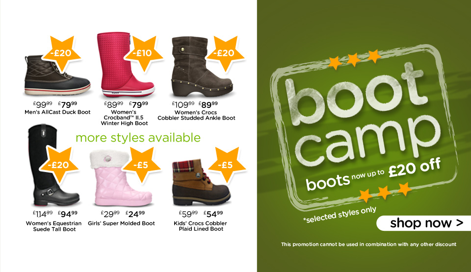Up to £20 off Selected Boots