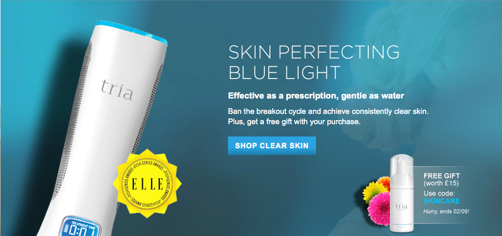 The Hub Free Cleanser With The Tria Skin Perfecting Blue Light